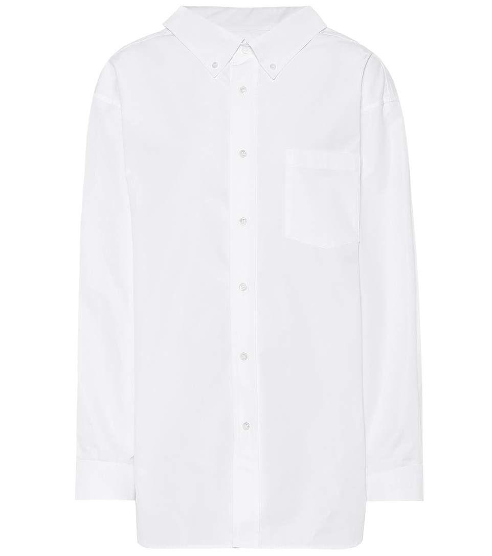 427a875c6ac2e8 BALENCIAGA Swing Collar cotton shirt. #balenciaga #cloth ...