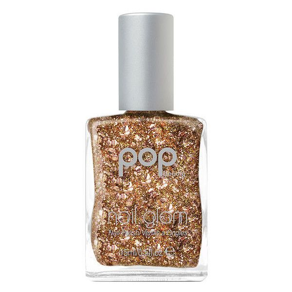 POP Beauty Nail Glam Nail Glam, Glitter Glaze 0.5 oz (15 ml) (£6.60) ❤ liked on Polyvore featuring beauty products, nail care, nail treatments and pop beauty