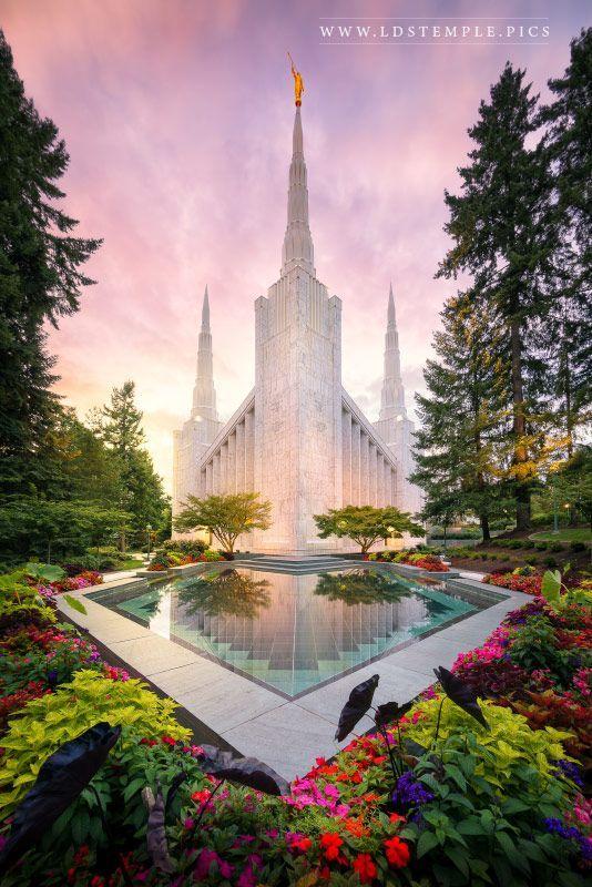 Portland Temple Pastel Sunset | LDS Temple Pictures | Lds