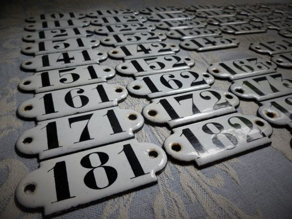 Vintage French Black And White Genuine Enamel House Number Authentic 1930 39 S Hotel Room Various 1 200 Industrial House Numbers Hotel Door Vintage Hotels