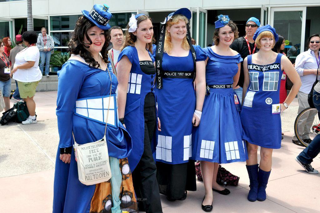 Costume - Tardis dress options. Halloween next year.