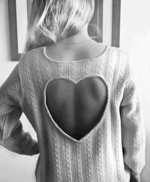 Heart Cutout Sweater