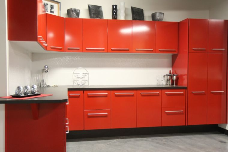 Cocinas en rojo - treinta y ocho diseños ardientes - | Gabinetes ...