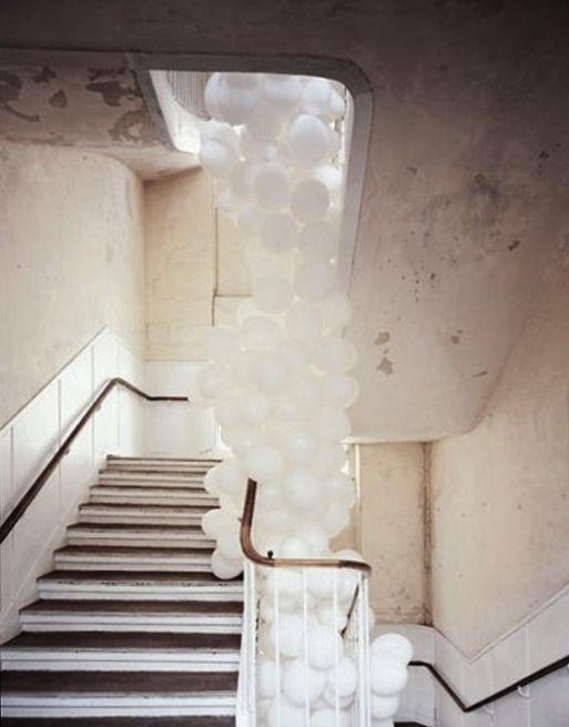 #stair #balloons #white