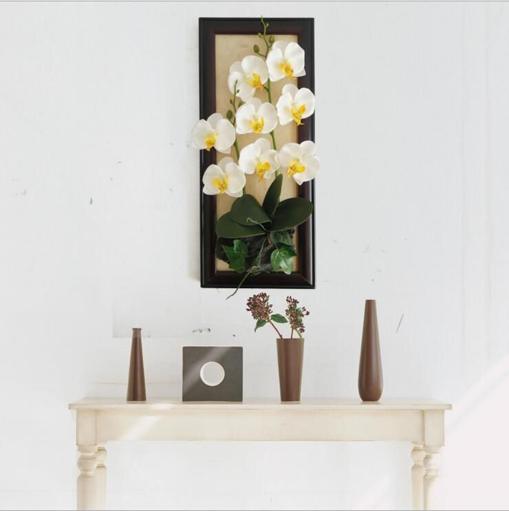 Diy fake orchid photo frame wall decoration artificial