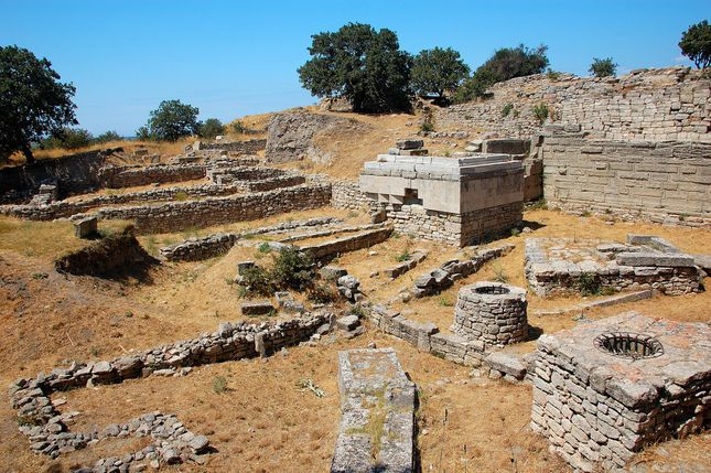 How did archaeologist preserve The city of troy?
