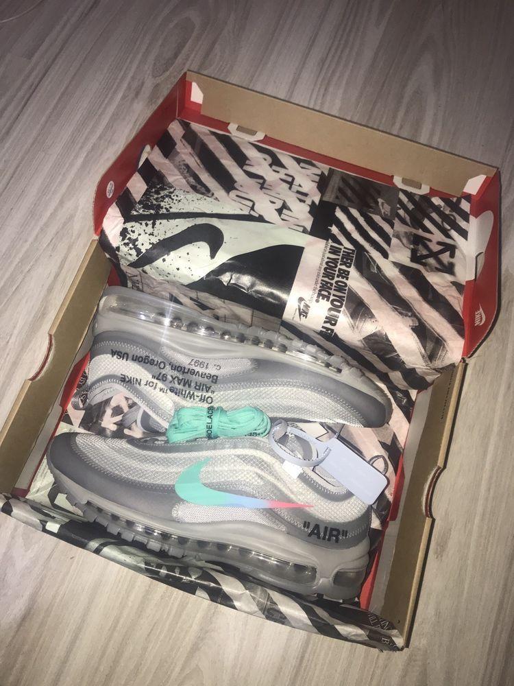 Off White x Nike Air Max 97 Menta #fashion #clothing #shoes