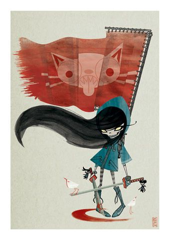 Yumiko,Flag,Giclée Print, Art Print, Signed Print, Limited Edition