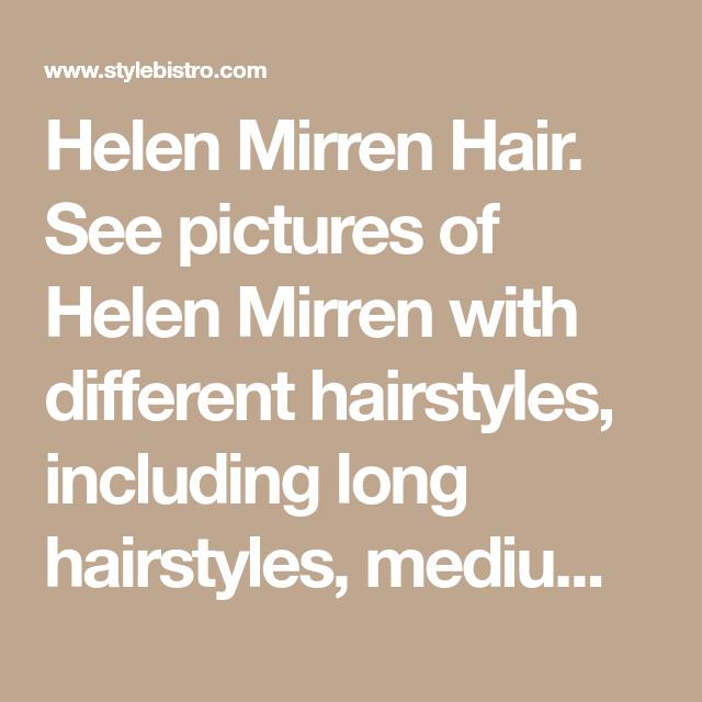 Photo of Helen Mirren Hair