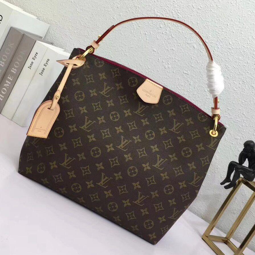 Louis Vuitton Monogram Canvas Graceful Pm Hobo Bag M43700 Pivoine