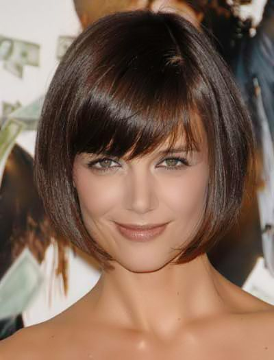 Pinterest Hairstyles For Over 50 Pinterest Short Bobs For Over 50 Short Hairstyle 201 Short Haircuts With Bangs Katie Holmes Hair Bob Hairstyles With Bangs