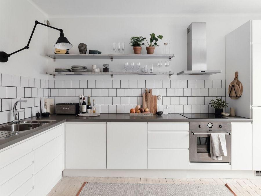 15 idee per una Cucina bianca e grigia... Lasciatevi ispirare ...