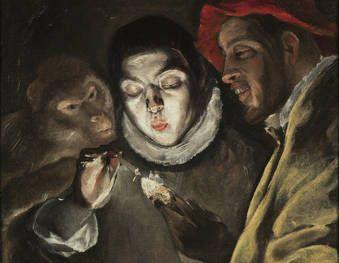 """""""Una fábula"""", El Greco, hacia 1580"""