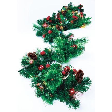 Brookhaven 9ft Prelit Garland Multi Color Bhv 525 912 Wreaths Garland Holiday Decor Christmas Wreaths Garland
