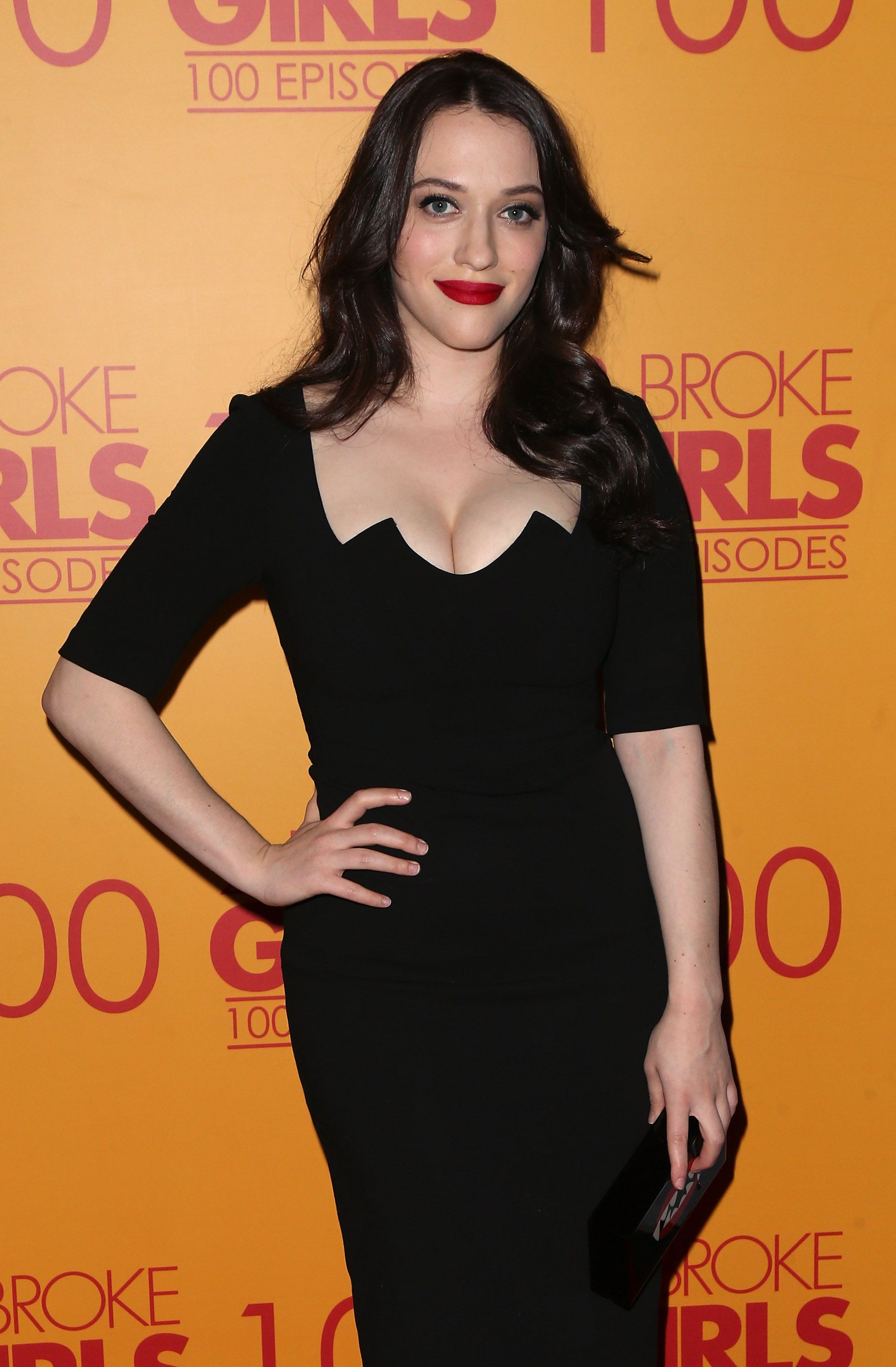 Kat Dennings Attends The 100th Episode Celebration Of Cbs 2