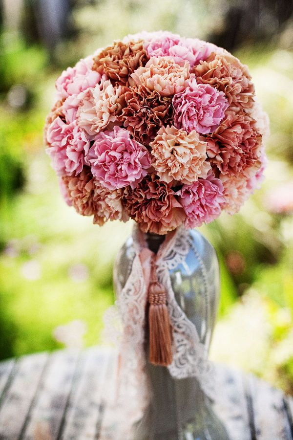 REALLY like this...and carnations are super cheap too.