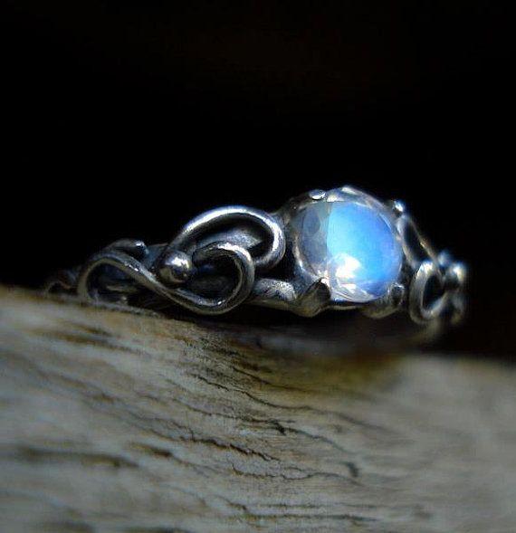 elvish wedding engagement amethyst sterling by angelikasamulets 10000 - Elvish Wedding Rings