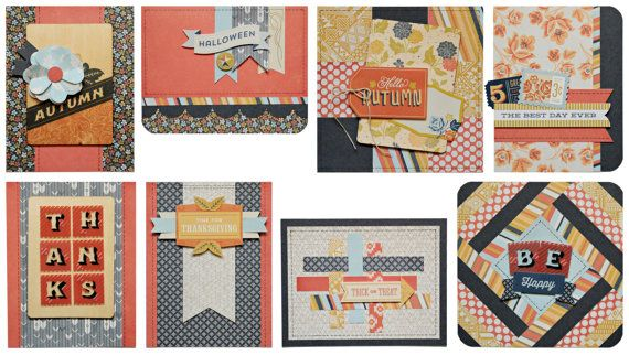 Basic Grey Card of the Month Kit October 2013 with Persimmon COTM