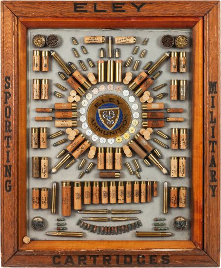 Rare Antique English Antique Ammunition Cartridge Display
