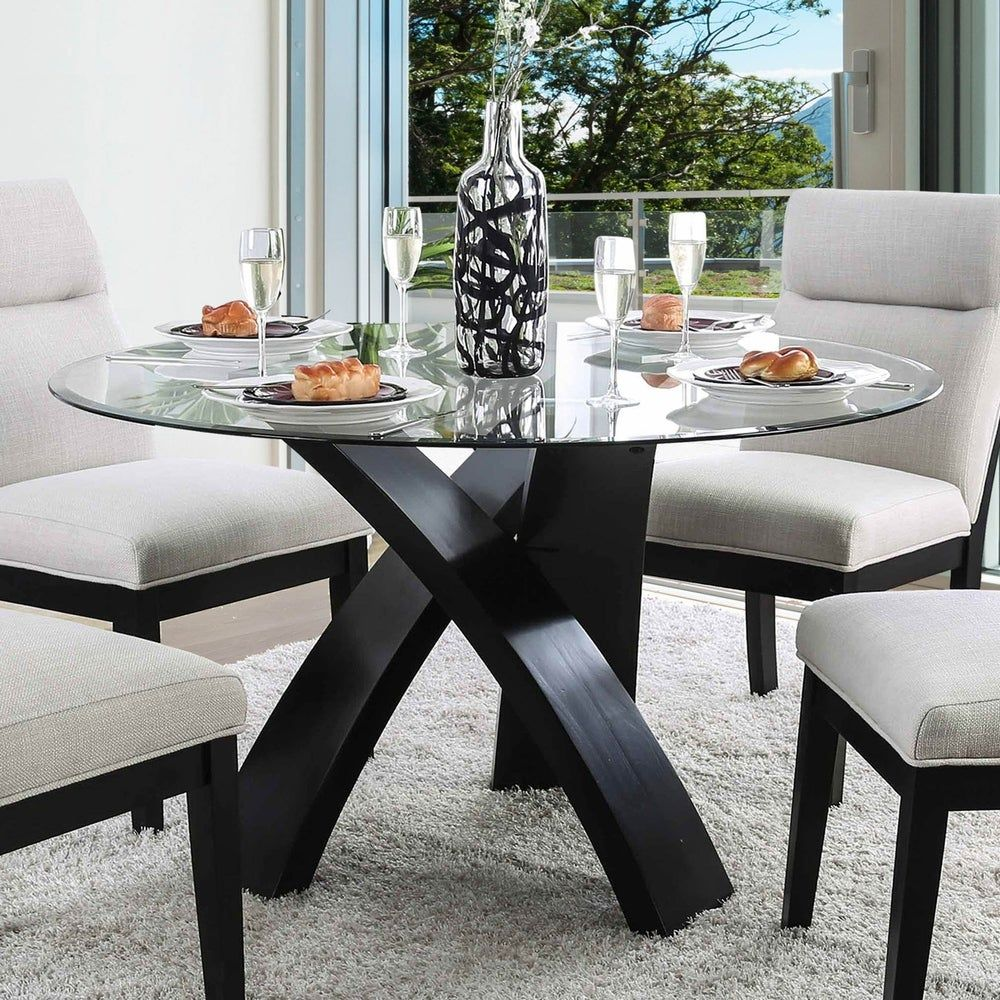 Overstock Com Online Shopping Bedding Furniture Electronics Jewelry Clothing More In 2020 Glass Round Dining Table Glass Dining Table Contemporary Round Dining Table