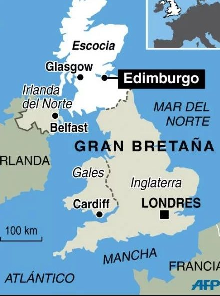 Mapa De Escocia Escocia Glasgow