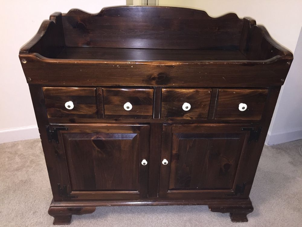 Vintage Ethan Allen Old Tavern Antiqued Pine Dry Sink