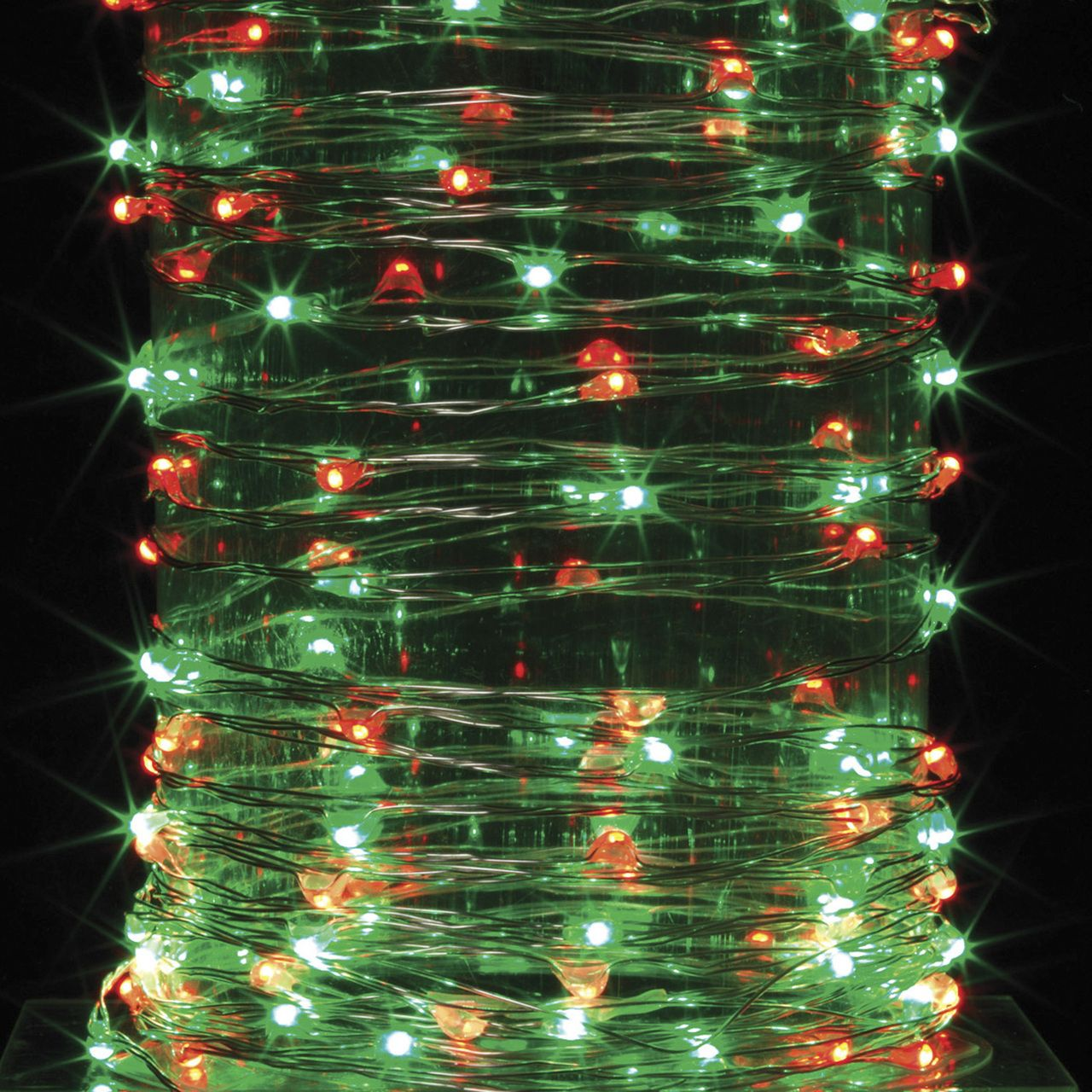 The Jolly Christmas Shop   10ft Red And Green Outdoor Battery Operated  Lights, $15.99 (