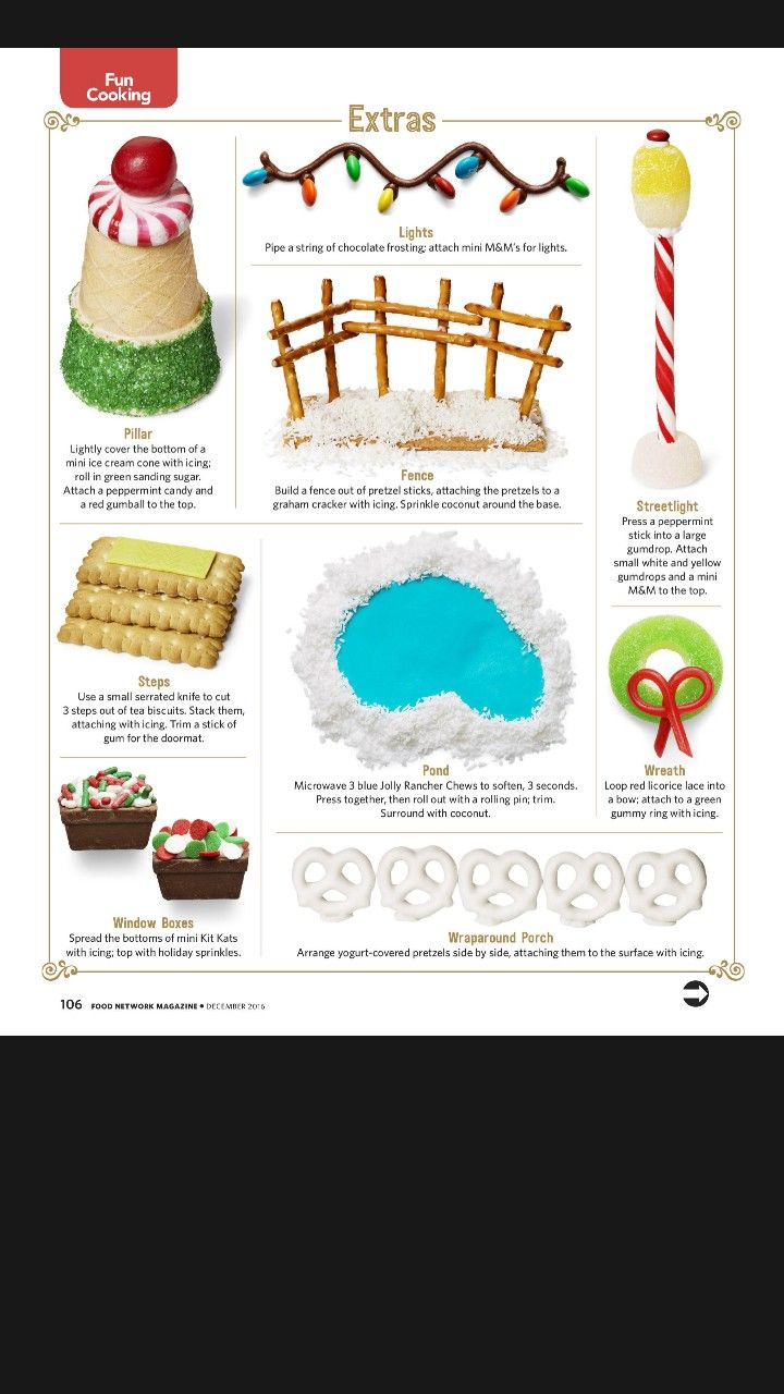 Gingerbread House Extras Gingerbread House Cookies Gingerbread House Designs Gingerbread House Parties