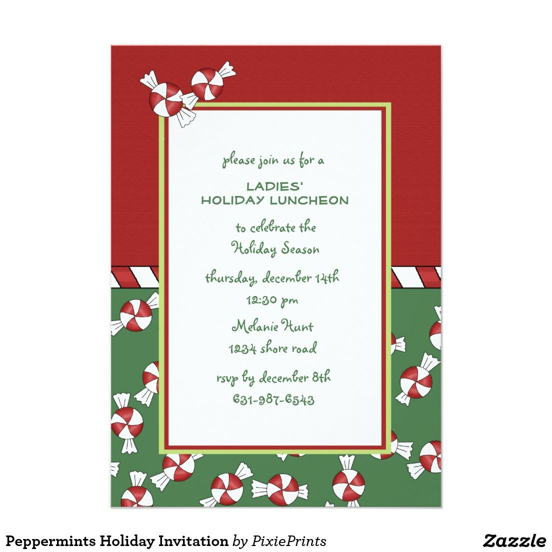 Fantastic zazzle party invitations images resume ideas peppermints holiday invitation christmas party invitations m4hsunfo