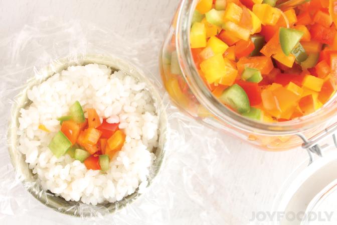 Rainbow of Peppers Onigiri