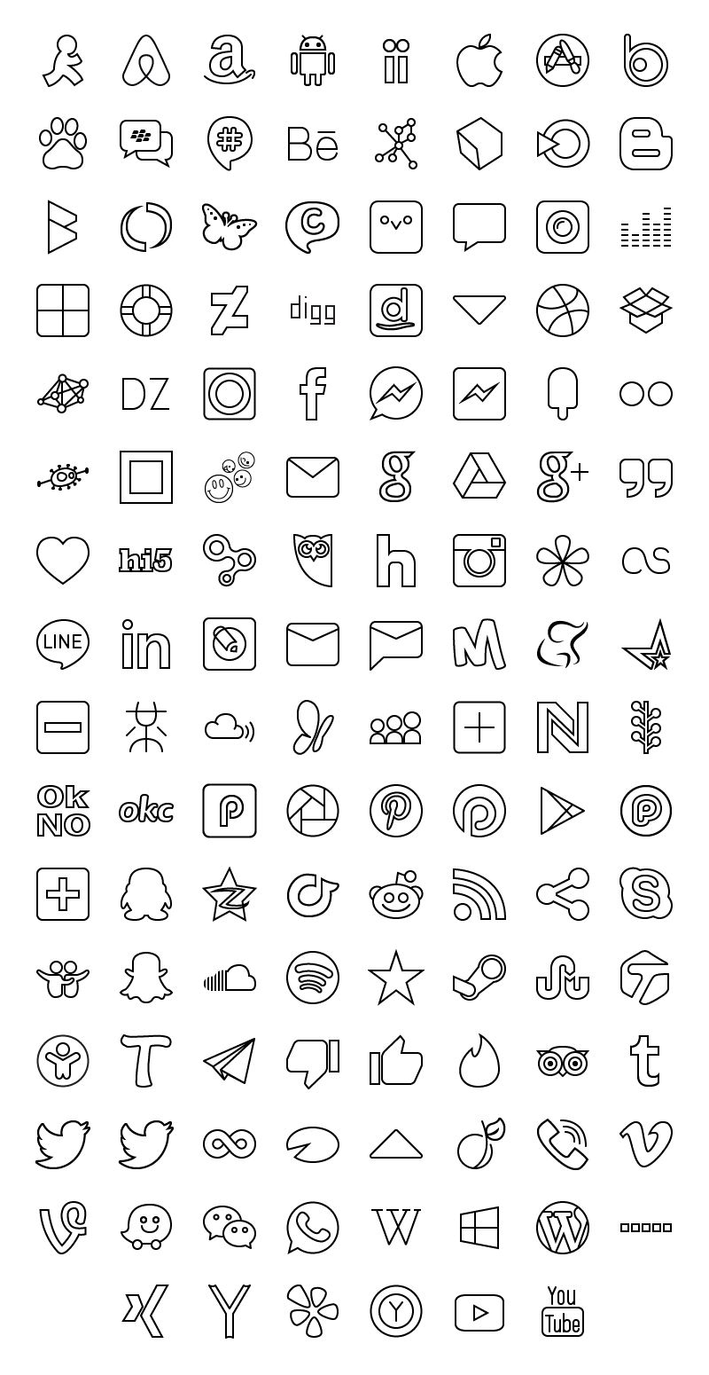 Social Media Icons by Iconshock