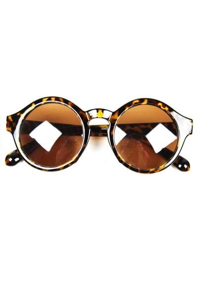 Sexy Leopard Print Round  Sunglasses - OASAP.com
