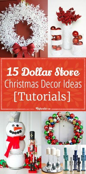 15 Dollar Store Christmas Decor Ideas [Tutorials] #dollarstorechristmascrafts