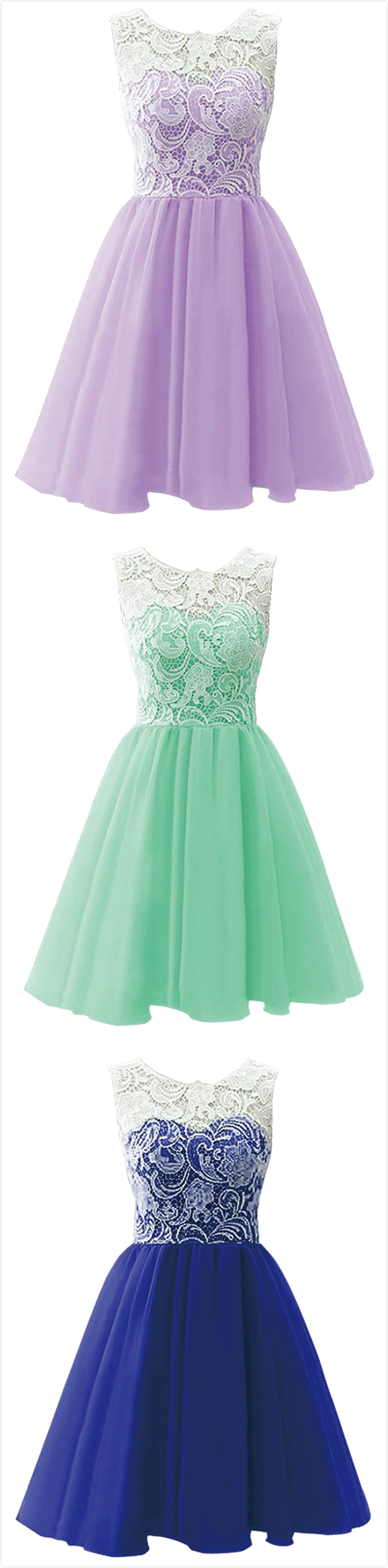 Lace paneled sleeveless aline cocktail dress prom clothing and