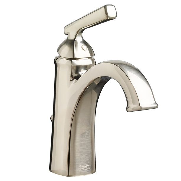 edgemere single handle bathroom faucet in brushed nickel edgemere collection american standard - Single Handle Bathroom Faucet