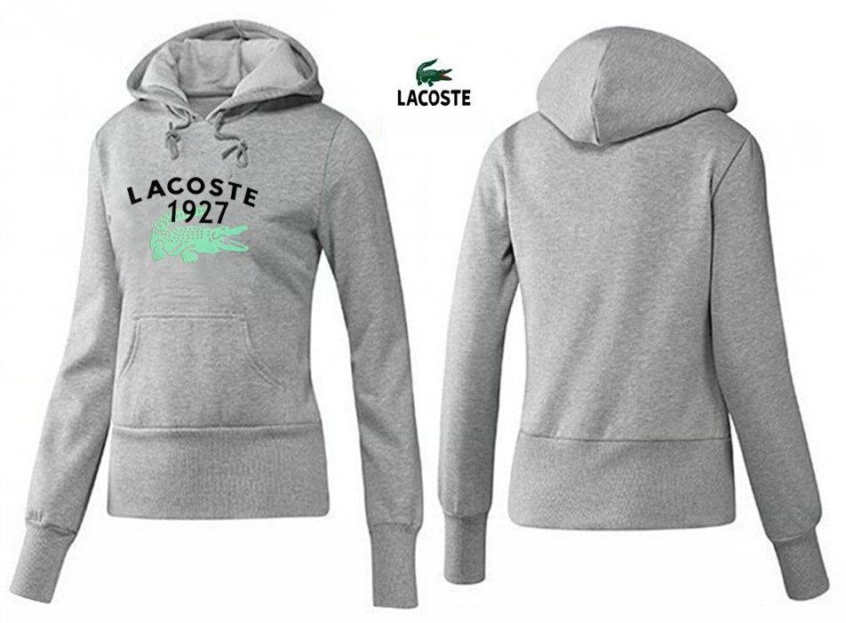 Lacoste polo women hoodies 1927 light grey