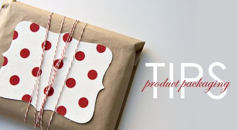 Product packaging - brown paper bag wrapped in twine with a sweet handwritten note.