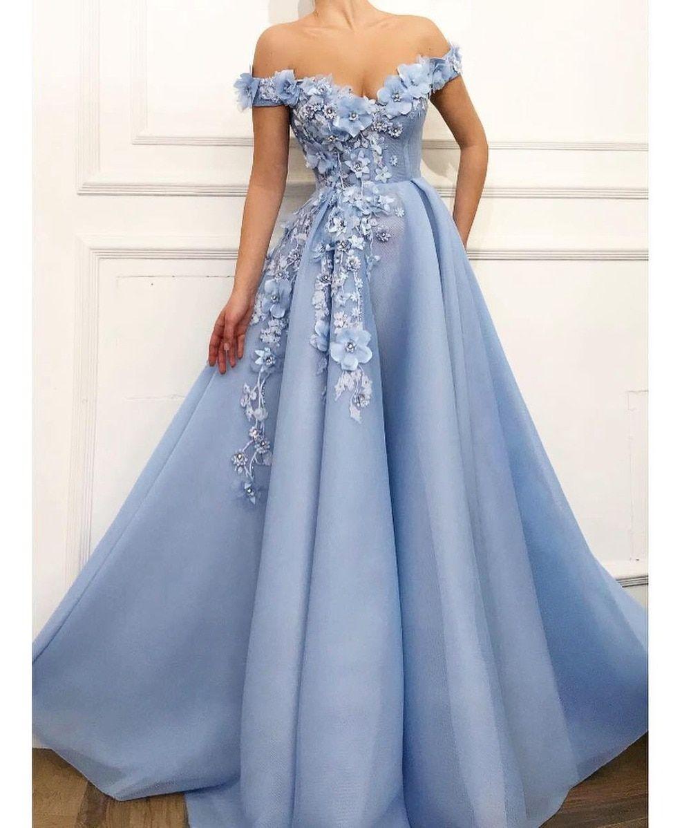 Dubai 3D Flowers Lace prom dress NA01