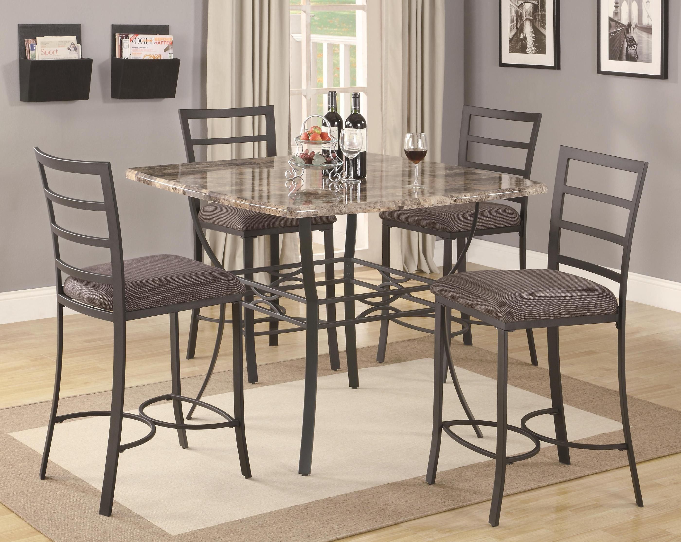 Granite Dining Room Furniture Chic Stainless Steel Counter Height Bar Stools With Comfy Pad