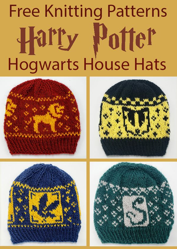 Harry Potter Knitting Patterns #freeknittingpatterns