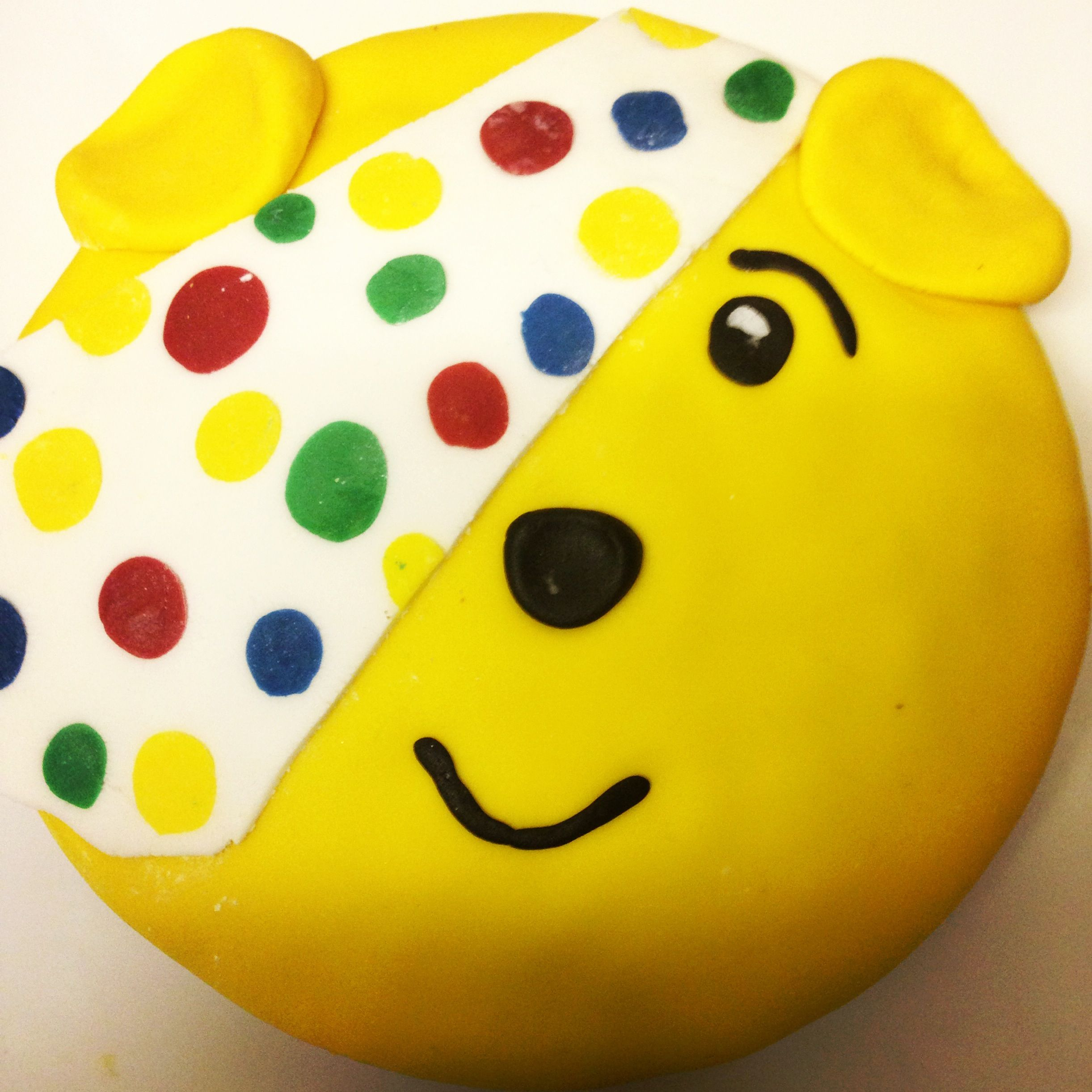 Pudsey Bear cake. All ready for my son to take to school tomorrow ...
