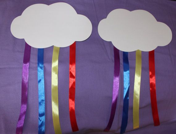 Giant Rainbow Clouds  great for the wall by Leonscreativememorie, $3.25
