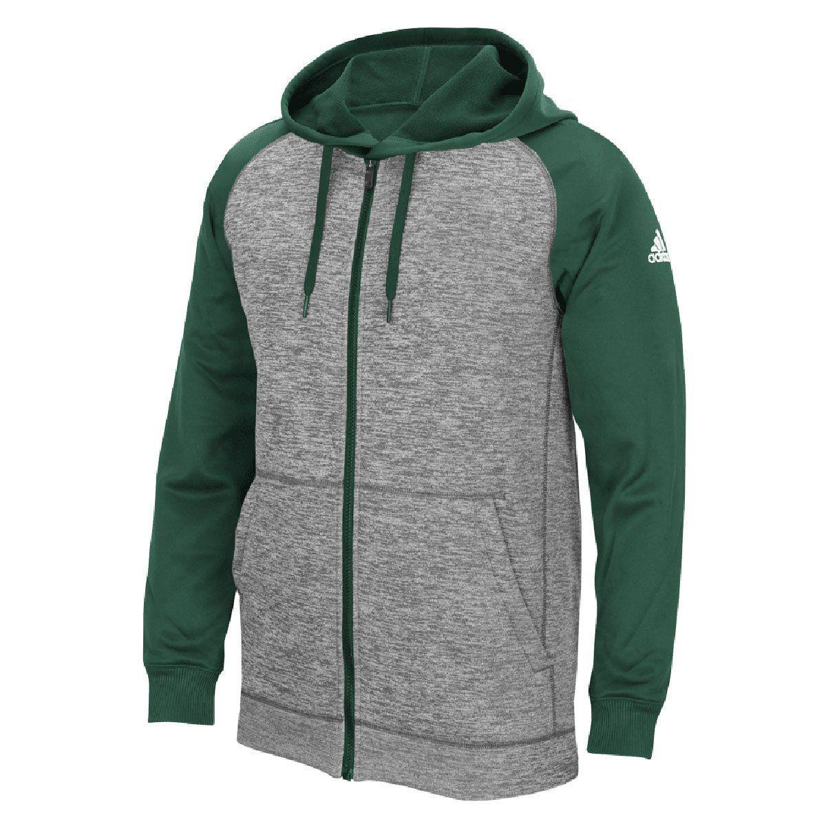 adidas Men's Dark GreenGrey Climawarm Team Issue Full Zip