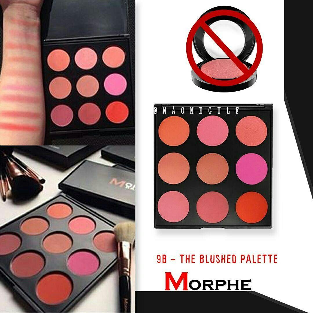 باليت بلاشر من مورفي ا 9bz That Glow Bronzer Palette تاخذ درجات البرونز ا 9n Naturally Blushed Palette التدرجات الطبيعيه من الروزي الى Morphe Makeup Abs