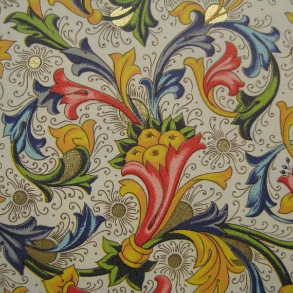 Made In Italy Authentic Florentine Paper For Your Projects via Etsy
