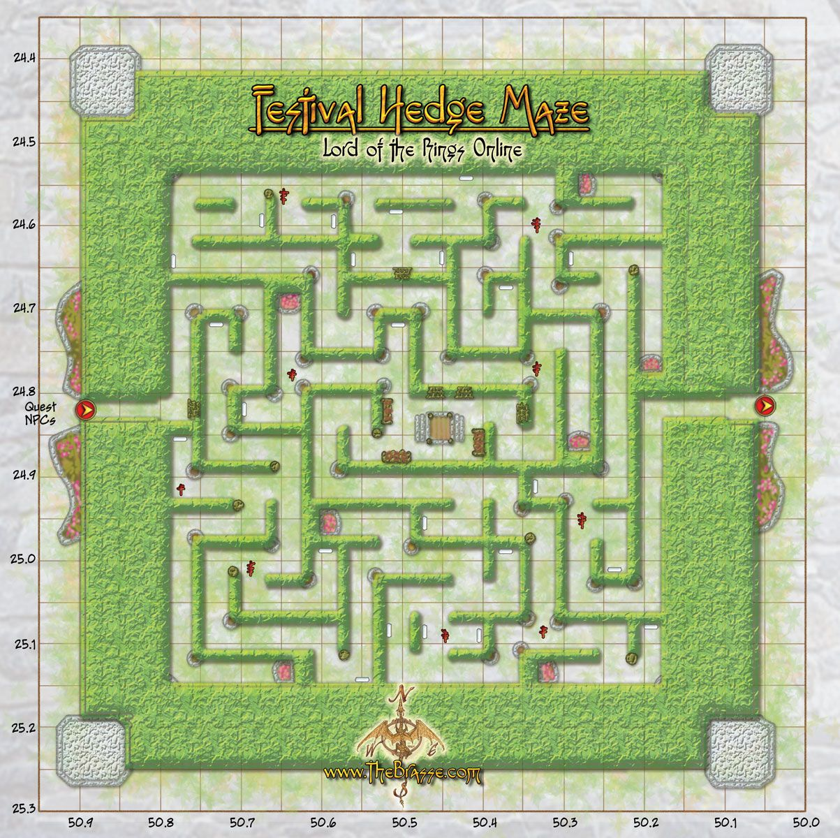 Maps Festival Hedge Maze Spring Festival Lotro Lord Of The