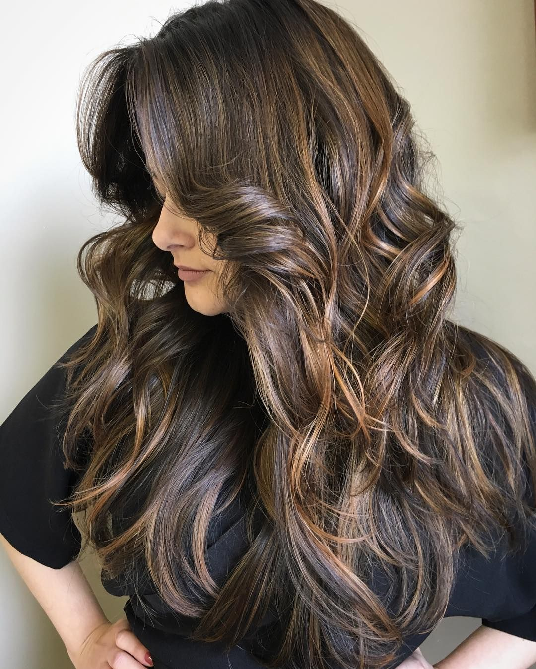cool 65 Ideas for Dark Brown Hair With Highlights - For ...