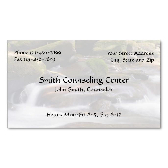 Counselor Psychologist Mental Health Business Card Psychology