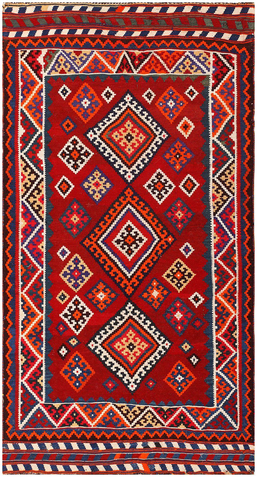 Tribal Antique Persian Ghashgai Rug 50269 Antique