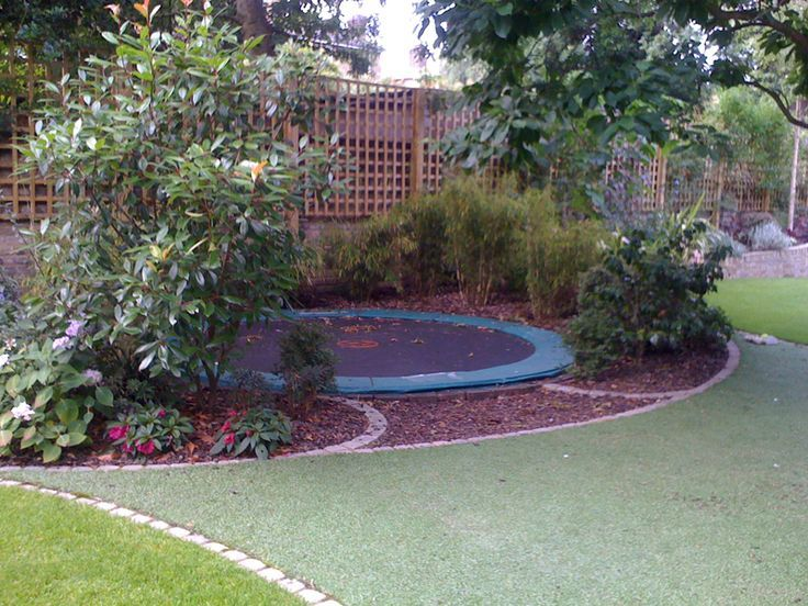 Much Nicer Than Those Big Netted Things Garden Trampoline Family Garden Play Garden